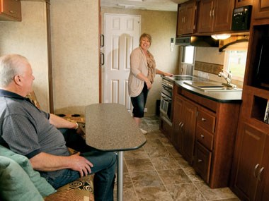 Forest River RV Wildwood caravan interior view