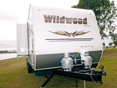 Forest River RV Wildwood caravan exterior ready to go