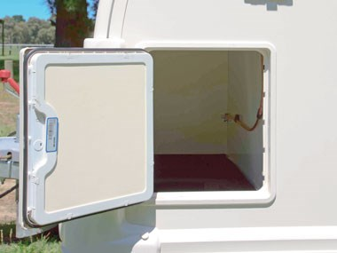 Bailey Caravans Unicorn Barcelona exterior door