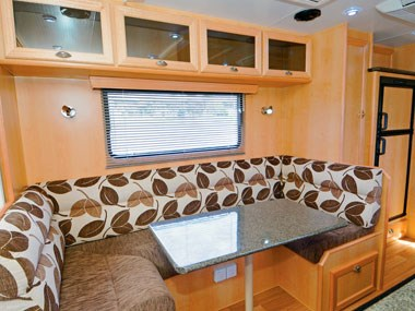 Aussie Wide Caravans Bunderra interior lounge