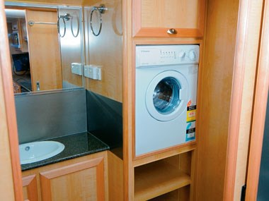 Aussie Wide Caravans Bunderra bathroom and washing machine