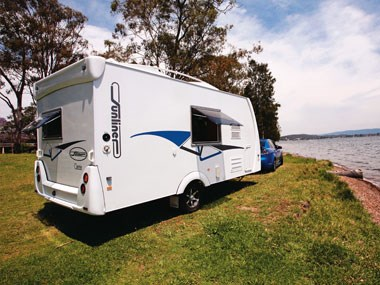 Sunliner Carnie caravan exterior ready for an adventure