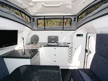 Bolwell RV Edge fibreglass caravan spacious interior