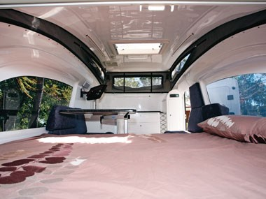 Bolwell RV Edge fibreglass caravan interior view