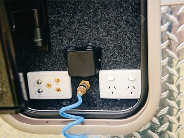 Spinifex EpiX caravan exterior power outlet