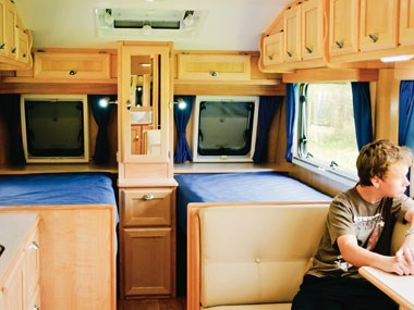 Spinifex EpiX caravan spacious interior view
