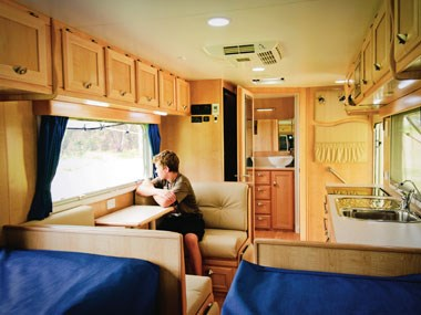 Spinifex EpiX caravan beautiful interior view