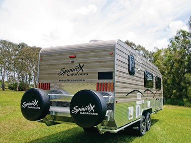 spinifex epix caravan exterior ready for an off-road adventure