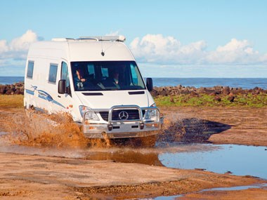 Horizon Acacia 4X4 motorhome exterior view on rough terrain