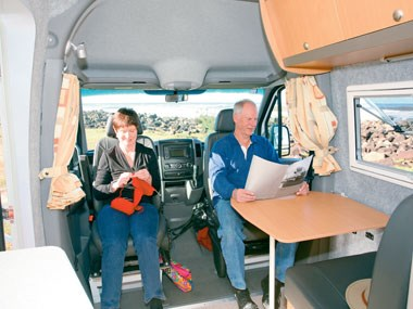 Horizon Acacia 4X4 motorhome interior seating view