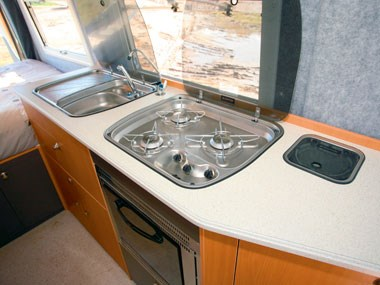 Horizon Acacia 4X4 motorhome sink and kitchen
