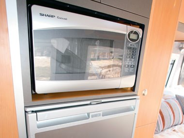 Horizon Acacia 4X4 motorhome interior view of microwave