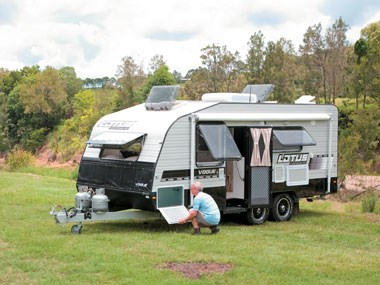 Lotus Caravans Vogue exterior open