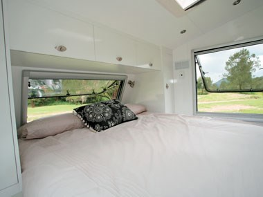 Lotus Caravans Vogue bed extended