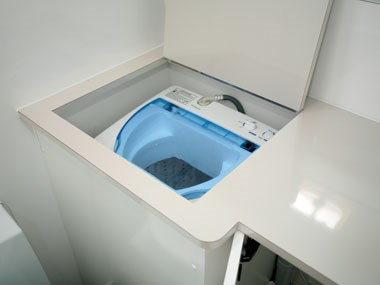 lotus caravans vogue interior laundry washing machine