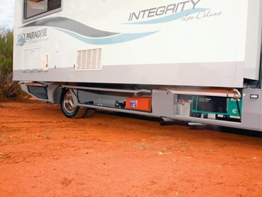 Paradise Integrity motorhome exterior side view