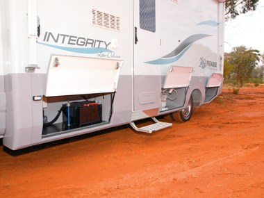 Paradise Integrity motorhome exterior lower section
