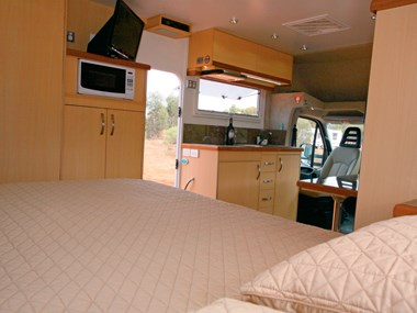 Paradise Integrity motorhome bed