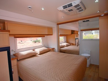 Paradise Integrity motorhome interior spacious bed