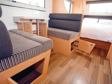 Talvor 650A caravan interior seating