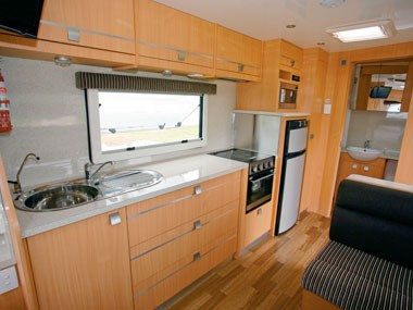 Talvor 650A caravan interior kitchen