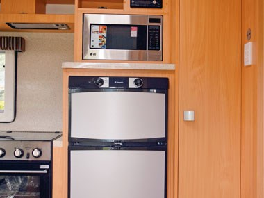 Talvor 650A caravan fridge and microwave