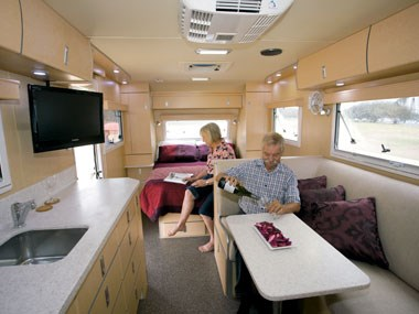 slr caravans 1900 premium off road caravan interior spacing