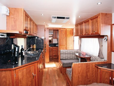Franklin Oz Factor caravan view of spacious interior