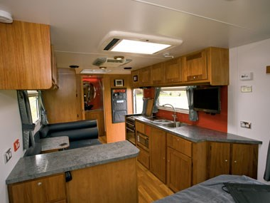 Sunland Caravans Winton IV interior kitchen