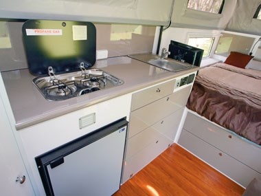 North Coast Campers Topender XLT camper kitchen