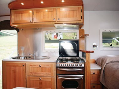 outback rvs overlander caravan kitchen