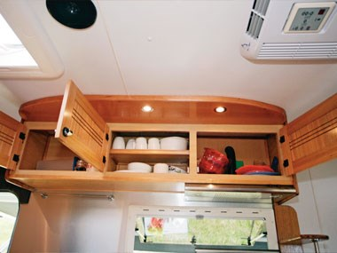 outback rvs overlander caravan kitchen storage