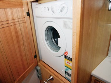 outback rvs overlander caravan washing machine