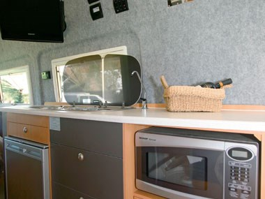 horizon motorhomes grevillea campervan kitchen