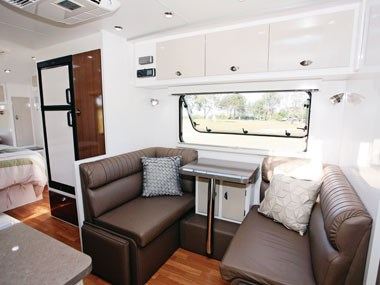 Lotus Caravans Freelander lounge and dinette