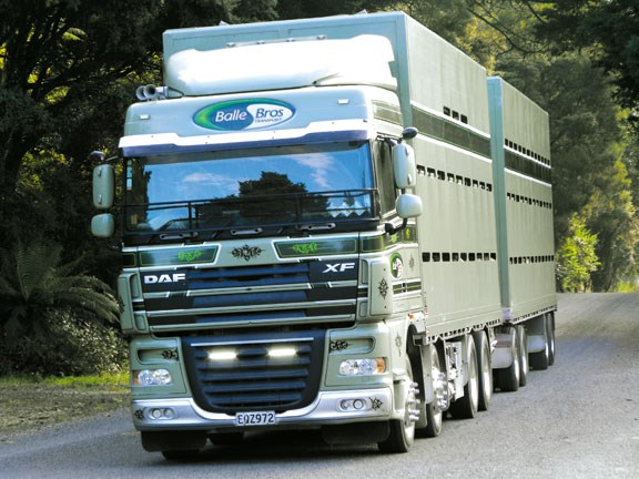 on the road DAF XF 105 truck
