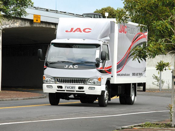 JAC HFC1061K Chinese light truck on the road