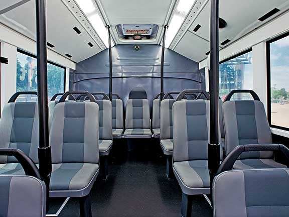 The Carbridge TORO eBus has a slick interior