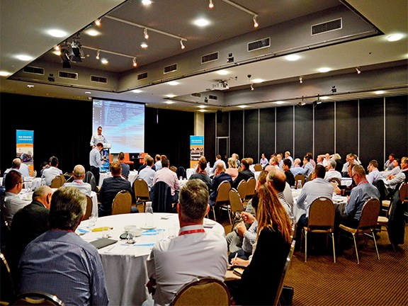 BIC vice chairman Steve Heanes speaks at the Bus Industry Confederation (BIC) National Technical and Suppliers Summit in Canberra