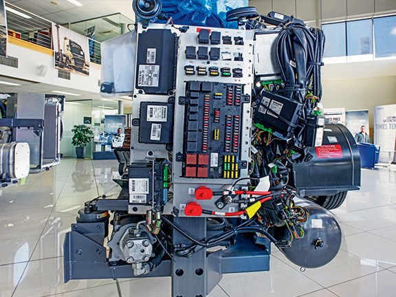 The Volvo Euro 6 circuitry