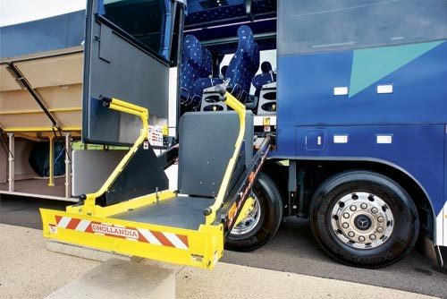 The wheelchair lift gives added flexibility