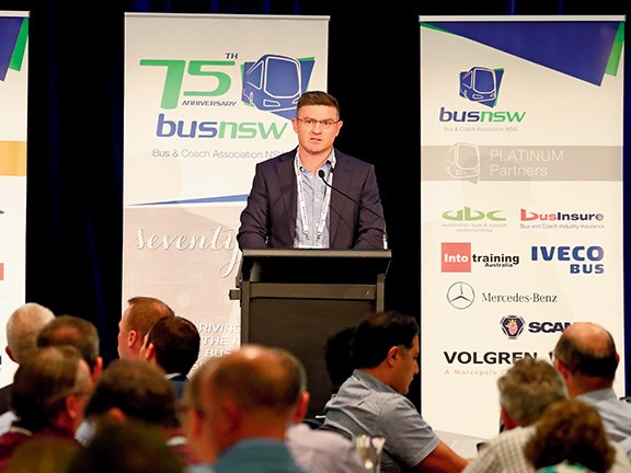 After 18 years as BusNSW executive director, Darryl Mellish will be handing over the role to Matt Threlkeld (pictured) in July