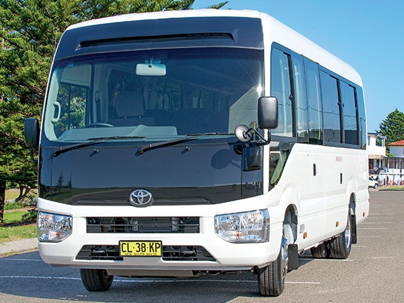 The Toyota Coaster has been redesigned inside and out in 2017
