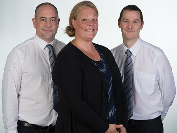 Evident Solutions team Jerome Haoust, Renee Haoust and Anthony Osick