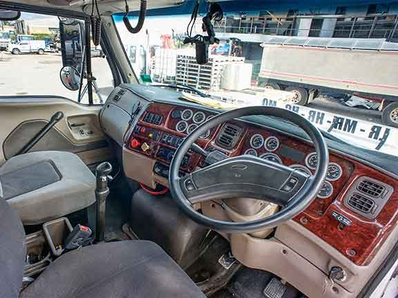 3-axle truck cabin has all the bells and whistles