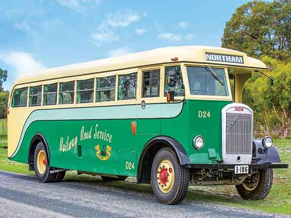 A rare bus indeed, the 1947 Dennis Lancet J3 was one of three half-cab buses imported from Britain by the Western Australian Government Railway