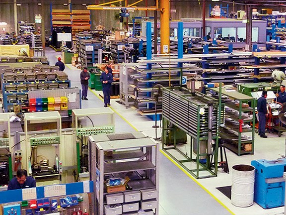The main production floor at SMC Pneumatics  in Sydney