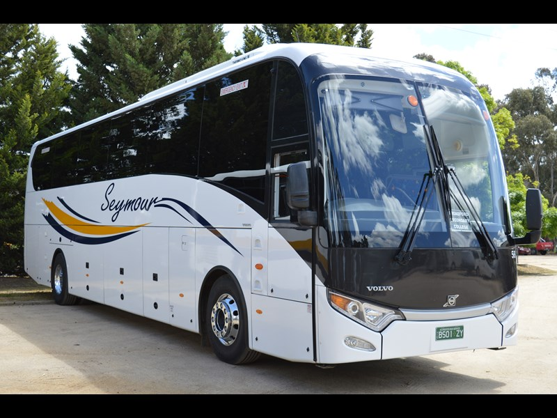 Just one of the four new Volvo-King Long combos that was delivered to Seymour Coaches earlier this year