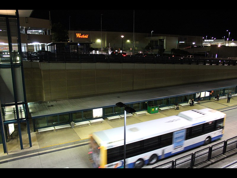 The belowground South East Busway servicing Westfield Garden City in Brisbane
