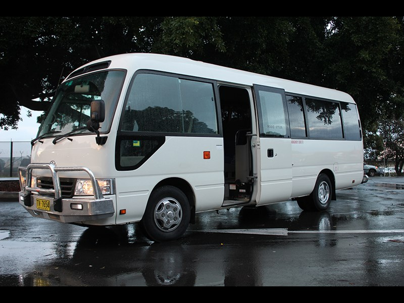Reliable little bus for nearly 40 years: the trusty Toyota Coaster
